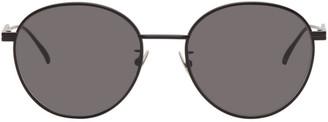 Bottega Veneta Black Round Sunglasses