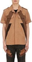 Neil Barrett Men's Nubuck Oversized Shirt