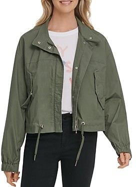 DKNY Cropped Hooded Coat