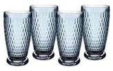 Villeroy & Boch Boston Blue Crystal Highball Glasses/Set of 4