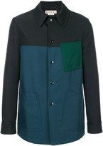 Marni colour block jacket - men - Cotton/Polyester - 46