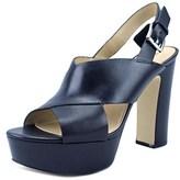 MICHAEL Michael Kors Mariana Sling Open Toe Leather Platform Sandal.