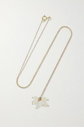WWAKE + Net Sustain Cloudburst Gold Pearl Necklace - one size