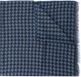Lanvin dogtooth scarf - men - Silk/Wool - One Size