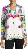 Berek Flower Pop Two-Button Jacket, Plus Size