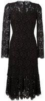 Dolce & Gabbana fluted hem lace dress