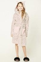 Forever 21 FOREVER 21+ Girls Leopard Print Robe (Kids)