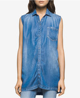 Calvin Klein Jeans Sleeveless Denim Shirt