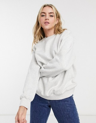 Bershka oversized sweatshirt in grey