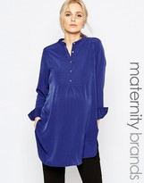 Isabella Oliver Longline Shirt With Button Up Front