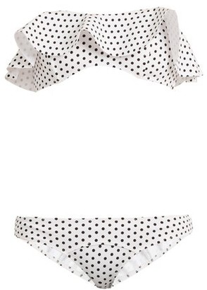 Lisa Marie Fernandez Natalie Polka-dot Print Bonded Bikini - Womens - White