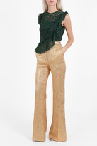 Rochas Flare Lurex Jacquard Trousers