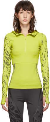 adidas by Stella McCartney Green Long Sleeve Run Zip-Up Sweater