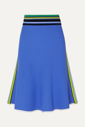 Diane von Furstenberg Roseha Striped Stretch-jersey Skirt - Blue