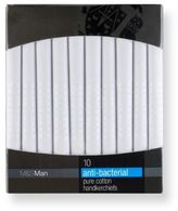 Marks and Spencer 10 Pack Pure Cotton Anti-Bacterial Handkerchiefs