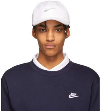 Nike White Featherlight Adjustable Running Cap