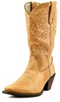 Durango Rd3478 Women Square Toe Leather Tan Western Boot.