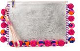 Sophia Webster Flossy pompom-embellished leather pouch