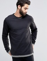 ONLY & SONS Crew Neck Sweatshirt with Raw Edges