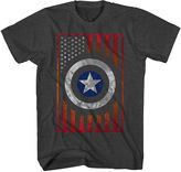 JCPenney Novelty T-Shirts Marvel Captain America Flag Tee