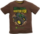"""John Deere Boys 4-7 Will Trade Sister For Tractor"""" Graphic Tee"""