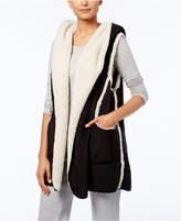 Hue Sleeveless Fleece-Lined Hooded Robe