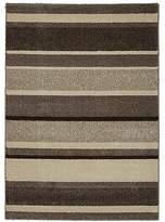 Homemaker Taupe Stripe Rug - 80 x 150cm