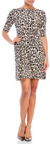Kate Spade Cheetah Ponte Waisted Dress