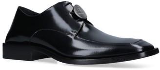 Balenciaga Leather Logo Coin Derby Shoes