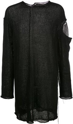 Yohji Yamamoto distressed knit jumper