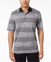 Greg Norman for Tasso Elba Men's Big & Tall Heathered Stripe Performance Sun Protection Golf Polo, Created for Macy's