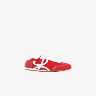 Loewe Red Ballet Runner Suede Sneakers