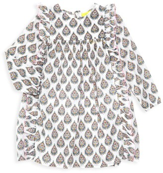 Roller Rabbit Little Girl's & Girl's Sunshower Paisley Ruffled Dress