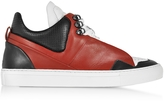 Ylati Poseidon Upper Red & Black Leather Men's Sneaker