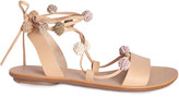 Rebecca Taylor Loeffler Randall Saskia Pom Pom Lace Up Sandal