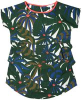 Little Marc Jacobs Jungle Tiered Crepe Dress & Crop Top
