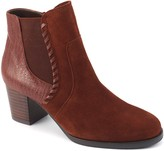 David Tate Leather Stacked Heel Boots - Odyssey