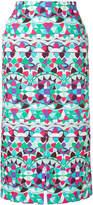 Emilio Pucci front slit midi skirt