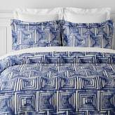 Williams-Sonoma Williams Sonoma Printed Ikat Grid Bedding, Navy