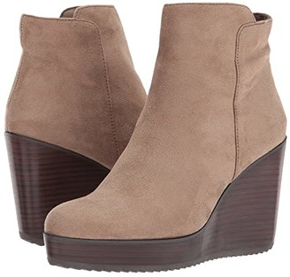 Volatile Patty (Taupe) Women's Zip Boots