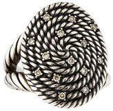 David Yurman Diamond Cable Coil Ring
