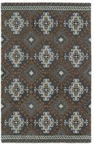 Leon Hand-tufted de Tribal Grey Rug (5' x 7'9)