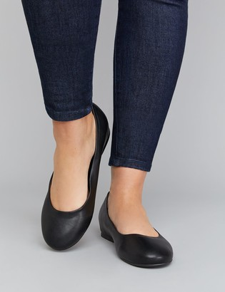 Lane Bryant Faux Leather Round-Toe Flat
