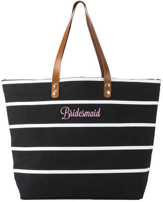 Cathy's Concepts Cathy Concepts Bridesmaid Striped Tote