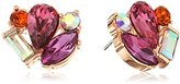 Betsey Johnson Boat House Faceted Stone Cluster Stud Earrings