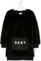DKNY Teen faux fur sweatshirt dress