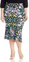 Melissa McCarthy Women's Plus Size Ponte Mermaid Skirt with Flare