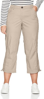 Ulla Popken Women's Cargohose 7/8 Cargo Trousers Black (schwarz 10) 56 (Manufacturer Size: 56)