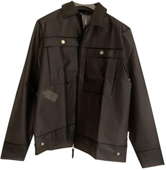 Rains Black Synthetic Coats