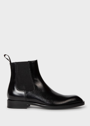 Paul Smith Women's Black Leather 'Stealth' Chelsea Boots